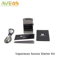 Wholesale Vaping Style - Authentic Vaporesso Aurora Vape Starter Kit 650mAh All-in one Style Vaping Kit with Built-in 650mAh Battery and 1.2ml Tank Classic Zippo Sha