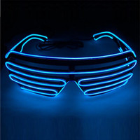 Wholesale Toys Ladies For Men - Wholesale- Led EL Glasses whole body light toys Cold Light Glasses Shutter Shape Dance Costume Party Supplies Cool shape for Man Lady Gift