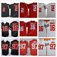 Wholesale Campbell S - Ohio State Buckeyes #2 JK Dobbins 16 Barrett IV 97 Nick Bosa 21 Campbell Jr. Red Black White Stitched NCAA College Football Jerseys