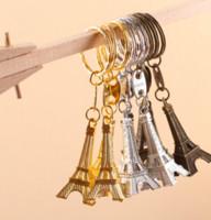 paris eiffelturm mittelstücke großhandel-Großhandels-30PC Torre Eiffelturm Keychain Schlüsselandenken, Paris-Ausflug Eiffel Keychain rustikale Hochzeits-Geschenke für die Gäste, die Mittelstücke Wedding sind