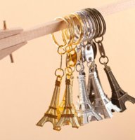Wholesale Eiffel Tour - Wholesale- 30PC Torre Eiffel Tower Keychain Key Souvenirs, Paris Tour Eiffel Keychain Rustic Wedding Gifts for Guests Wedding Centerpieces