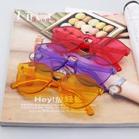 ingrosso occhiali da sole multicolori della ragazza-8 colori Moda donna Occhiali da sole per beach girls Moda sole OCCHIALI occhiali da sole multicolor da spiaggia regalo regalo
