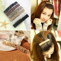 2016 New Fashion Full Crystal Lovely Handmade Beads Barrette Hairclips Hair Pin Girl Femmes Accessoires pour cheveux Style coréen Hot