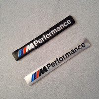 Wholesale Hood Stickers - M Performance Car Logo Hood Decal Sticker Emblem for BMW M SERIES M3 M4 M5 M6 e46 e60 e90 e92 f20 10PCS Lot