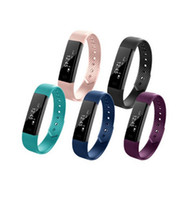 Wholesale Fitness Alarm - ID115 Smart Bracelet Fitness Tracker Step Counter Fitness Band Alarm Clock Vibration Wristband For Iphone Android PK i6 pro