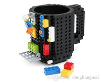 New Building Blocks Mugs DIY Creative Drink Tazza di caffè Moda personalizzata Decompression Water Cup 300-400ml DHL gratuito wn077