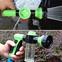 autowasch-pistolendüse groihandel-Auto Schaum Washer Hochdruckreiniger Gun Tragbare Waschmaschine Düse Jets Waschmaschine Multifunktions Wasser Blume Haustier Bad