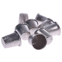 Wholesale Diy Metal Pins - 3pcs Metal Sewing Tailor Finger Protector Thimbles Shield Pin Needle Grip Silver Sewing Machine Handworking DIY Craft Tools
