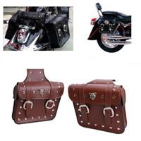 Leather sportster saddlebags - 2x Motorcycle Saddlebags Pouch Motorbike Saddle Bag for Harley Sportster XL883 XL1200