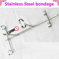 Wholesale Stainless Dildos - bdsm furniture stainless steel sex toys frames for doggy sex cosplay adult game fetish bondage set for adult slave game dildos