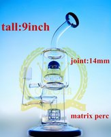 Wholesale Mini Water Colour - Mini Oil Rigs Glass Bong Glass Water Pipe Fab Egg Glass Bongs 9 Inches Colour Choice with 14.4mm Joint
