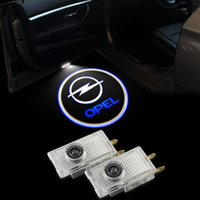 Wholesale Opel Light For Car - 2X Car Door Light Warming Lamp For Opel Insignia Ghost Shadow Logo Laser Projector Welcome 2009-2014