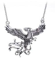 frauen phoenix schmuck großhandel-Harry Holy Grail Halskette phoenix Bronze Überzogene Tasse Anhänger Halsketten Für Frauen Männer Vintage Potter Schmuck Valentinstag Geschenk Zubehör