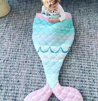 Wholesale Cute Mermaid Newborn - Infant cartoon cotton sleeping bags newborn kids cute mermaid swaddler babies kangaroo bag baby bedding stroller wrap sleep sack R0051