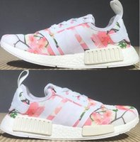 Wholesale Ventilated Running Shoes - Newest women mens pink NMD R1 ventilate Outdoor Shoes top quality 2018 PW HU NMD Pharrell Williams Human Race Boost Off White Humanrace shoe