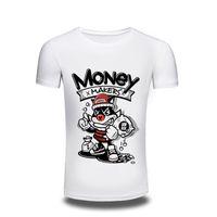 Wholesale Monkey Design Clothing - men's Clothing 3D T Shirt Mens 2017 Cool Men Funny Monkey Design T shirt Novelty Tops customize Printed Short Sleeve Tees free shipping