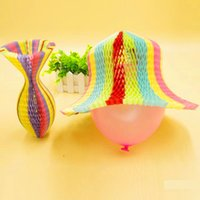 Wholesale Kids Beach Party Decorations - Novelty Summer Sun Paper Hats DIY Party Beach Flower Vase Style Sunbonnet Caps Kids Birthday Wedding Decoration ZA3354