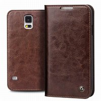 Wholesale Full Flip - Flip Leather Case for Samsung Galaxy S5,Luxury Full Protective Card Holder Phone Cover for galaxy S5