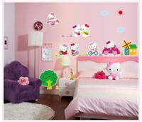 kitty de los nios el papel pintado decorativos artculos para el hogar papel pintado creativo nios