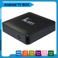 Wholesale Google Internet Tv Android - 2017 hot selling KD17.1 pre-loaded km5 Android 6.0 TV Box Amlogic S905X 1GB+8GB 4K WiFi Facebook Youtube android Smart internet boxes