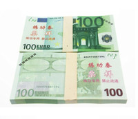 Wholesale Music Fountain Pen - EUR Training Money EURO 5 10 20 50 100 200 500 for props and Education bank staff training paper fake money Copy money Childen Gift