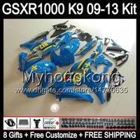 Wholesale Rizla K9 - 8gifts RIZLA cyan For SUZUKI GSXR1000 09 10 11 12 13 GSXR-1000 12MY80 GSX R1000 K9 GSXR 1000 2009 2010 2011 2012 2013 glossy cyan Fairing