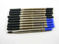 Wholesale Blue Pen Parker - 10PCS parker Blue Good Quality Rollerball Pen 0.5mm Refill For Stationery Free shipping