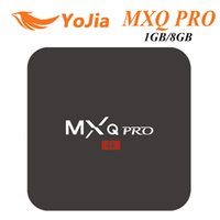 Wholesale Airplay Mini Tv Box - MXQ PRO S905W TV Box KD 17.3 Quad Core Android 7.1 Kitkat 1GB 8GB WIFI Airplay Miracast vs X96 MINI TX3