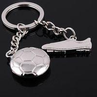 Wholesale Wholesale Tennis Ball Key Chains - Sports Football Tennis Ball Metal Alloy Keychain Key Chain Keyring Car Keychains Best Gift