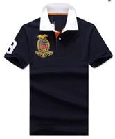 Wholesale Cheap American Shirts - Cheap 2017 Mens Casual Polo Shirt USA American Fashion Brand Polos T-Shirt Summer Men Short Sleeve embroidery Sport Polo t shirts #9923