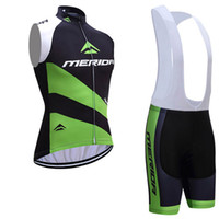 Wholesale Mens Cycling Vest Xl - 2017 Tour de France team MERIDA cycling vest jersey bike shorts set Ropa Ciclismo quick dry mens pro cycling wear bicycle Maillot Culotte