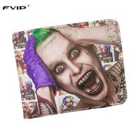 Wholesale Fashion Movie Photos - Wholesale- FVIP DC Comics Wallet Movies Suicide Squad The Joker Harley Quinn Enchantress And Bat Man Short Wallets With Card Holder Purse