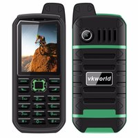 Wholesale Sim Gsm Power Bank - 4000mAh Battry VKWorld Stone V3 Plus Mobile Phone 2.4 inch IP54 Waterproof Elder Man Dual SIM GSM Power bank CellPhones