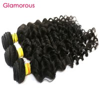 "Wholesale Queens Hair Products Deep Wave - Glamorous Indian Virgin Hair 3Pcs Deep Body Wave Queen Hair Products Double Weft 12""-34"" Peruvian Malaysian Brazilian Human Hair Extensions"