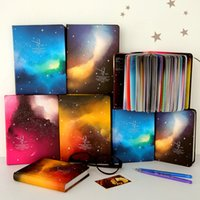 Wholesale Wholesale Book Binding Supplies - Wholesale- Color Pages Notebook Star Sky Planner Diary Book Korea Stationery School Supplies