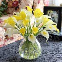 Wholesale Red Blossom Sales - 10pcs Mini Artificial Calla Lily Wedding Flowers Bouquet Calla lily Foam Home decor silk-like material blossom supply 2016 sale
