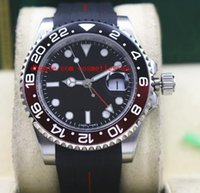 batman moda izle toptan satış-Moda En Kaliteli Lüks Saatler II 116710 40mm Seramik Çerçeve BATMAN Siyah / Kırmızı Kauçuk Bilezik Mekanik Erkekler Saatler Yeni Varış