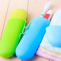 Wholesale Travel Toothbrush Covers - Portable Toothbrush Cover Holder Outdoor Travel Hiking Camping Toothrush Cap Case household Storage Cup