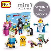 Wholesale Adventure Time Finn - LOZ New Mini Blocks brinquedos Small Building Toys Adventure Time Auction Model Toy Finn and Jake Juguetes Cartoon Toys Gift for Girls 1818
