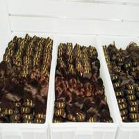 brezilya'da vücut dalgası fiyatları toptan satış-Alıcı Numarası bir Ucuz işlenmiş Brezilyalı kahverengi Renk Saç dokuma Ipeksi Vücut Dalga Toplu Fiyat 11 adet / grup Distribütör satış
