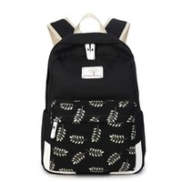 Wholesale Pink Laptops For Girls - Canvas Printing Backpack Women Cute School Backpacks for Teenage Girls Laptop Bag Rucksack Bagpack Female Schoolbag H1096