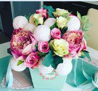 Wholesale Buy Paper Wholesale - 6pcs lot , 6 color choose good quanlity handle flower box ,,buy 2pcs have 10 % discount, hot sell ice cream flower barrels