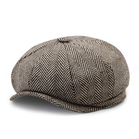 hiedra gorras al por mayor-Lana Tweed Newsboy Beret Ivy sombreros GATSBY  Cap Conducción Cabbie 510f65da0fc