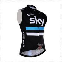 Wholesale Team Cycling Vests - Hot sale! SKY team pro cycling jersey vest summer sleeveless bicycle Clothing Ropa ciclismo bike clothes cycling gilet