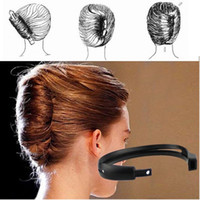 Wholesale bun tool for hair - 1 Pc Magic DIY Hair Styling Donut Bun Clip Twist Maker Holder Hair Tools For Women Girls Hair Accessories