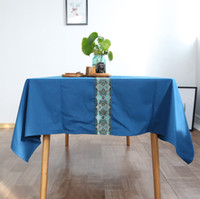 Wholesale New Chinese style tablecloth Continental blue luxury national wind high grade dining table coffee table cloth new classical tablecloths