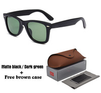 Wholesale Vintage Mens Western - 2018 Western style Brand Designer Sunglasses for men women classic Vintage Mens driver Sun glasses UV400 lens with case and box