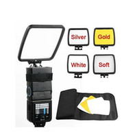 Wholesale Bounce Card - Free Shipping Foldable Camera Flash Diffuser + Bounce Card + Silver Gold White Photograph Reflector with carry bag for Flash Unit