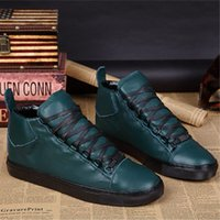 Wholesale Turquoise Mens Shoes - 2017 new arrived mens brand turquoise colour genuine leather popular casual shoes arena 39-46