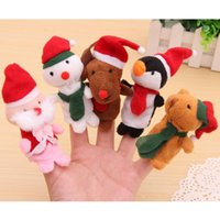 Wholesale snowman hand puppet for sale - Group buy 1PC Cartoon Santa Claus Wapiti Snowmen Velvet Finger Puppet Fingers Toy Doll Baby Cloth Educational Hand Story Christmas DSP03